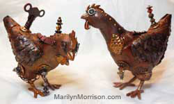Marilyn Morrison Steampunk Chicken